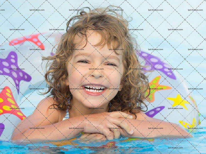 Child Playing In Pool